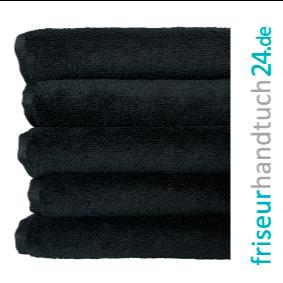 Schwarze Friseur Handtücher